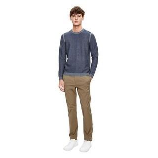Theory Orben Bilen Textured Crewneck Sweater Victory Multi Blue X-Large