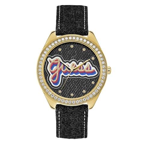 Guess Women's Drew U1276L2 Gold Nylon Quartz Fashion Watch
