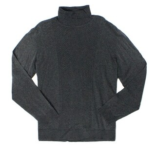 Alfani NEW Night Gray Mens Size 2XL Chevron Knit Turtleneck Sweater