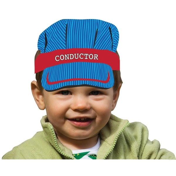 """Club Pack of 48 Blue and Red All Aboard """"Conductor"""" Child Size Headband 11"""""""
