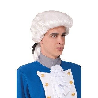 Forum Novelties Deluxe Colonial Costume Wig (White) - White