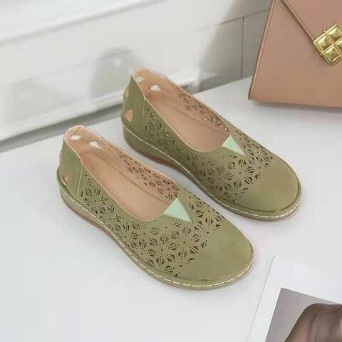 Women's Hollow Wedge Heel Single Shoe