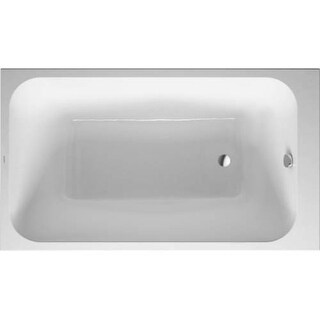 """Duravit 700233000000090 DuraStyle 55-1/8"""" Drop In or Built-in for Panel Acrylic Soaking Tub with Reversible Drain"""