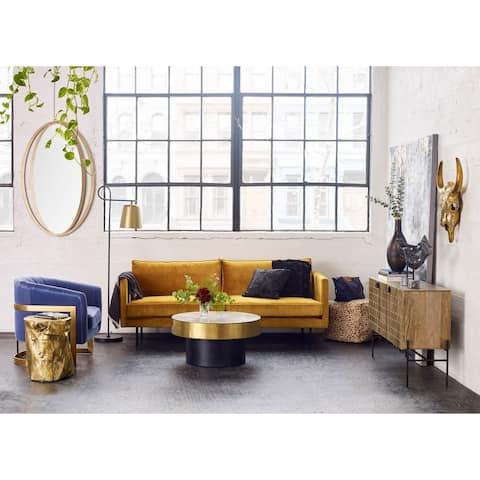 Aurelle Home Majestic Scandinavian Modern Velvet Sofa