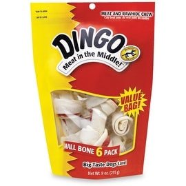 "Dingo Brand Rawhide Bone Small 3.5"", 6 ea"