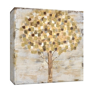 "PTM Images 9-147815  PTM Canvas Collection 12"" x 12"" - ""Golden Tree"" Giclee Trees Art Print on Canvas"