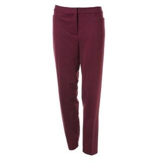 Jones New York Womens Ponte Slim Leg Dress Pants