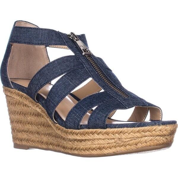 fc873ce3d Shop Lauren Ralph Lauren Kelcie Platform Wedge Sandals, Blue - On ...