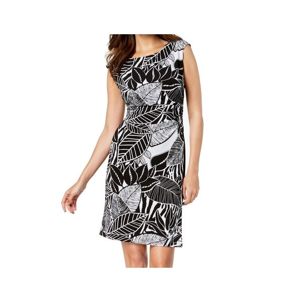 dc151487 Shop Connected Apparel Black Womens Size 16 Floral-Print Sheath Dress -  Free Shipping On Orders Over $45 - Overstock.com - 27369341