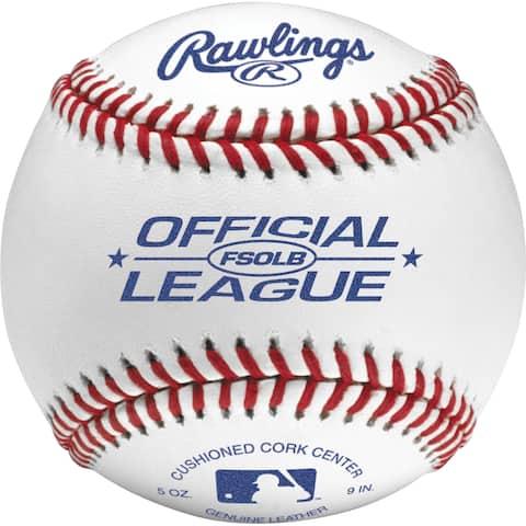 Rawlings FSOLB Flat Seam Official League Baseball (Dozen) White