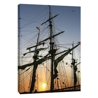 """PTM Images 9-105369  PTM Canvas Collection 10"""" x 8"""" - """"Tall Ships, Morro Bay 1"""" Giclee Sailboats Art Print on Canvas"""