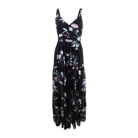 Rachel Rachel Roy Women's Printed Cutout Maxi Dress - Black Combo
