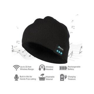 Bluetooth Beanie Winter Hat, Wireless Beanie Headphones, Winter Hat with Stereo Speaker. (Option: Blue)
