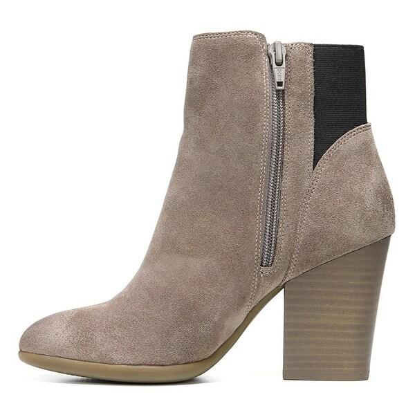 Carlos by Carlos Santana Womens ENCORE Suede Almond Toe Ankle, Doe, Size 5.5