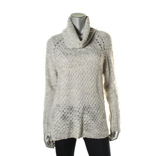 Sanctuary Womens Wool Blend Cowl Pullover Sweater