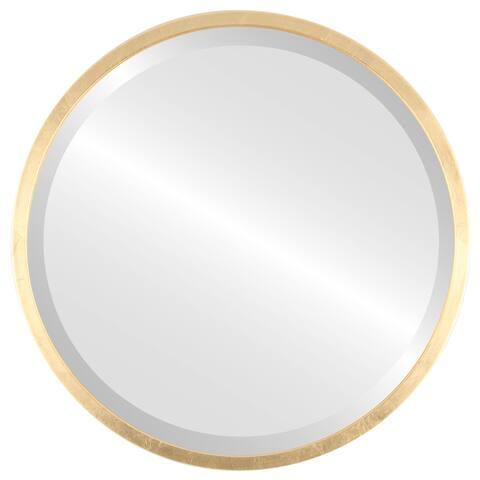 London Framed Round Mirror - Gold Leaf - Gold Leaf