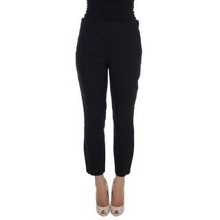 Dolce & Gabbana Dolce & Gabbana Black Wool Stretch Formal Dress Pants