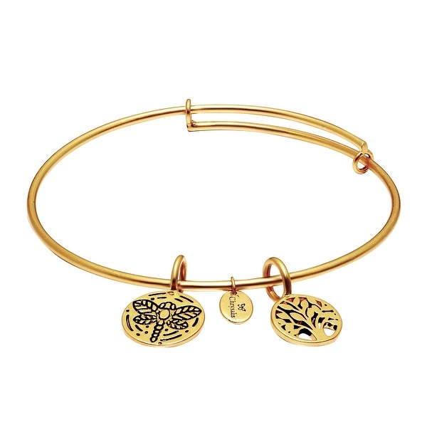 Chrysalis 'World Tree' Expandable Bangle in 14K Gold-Plated Brass - YELLOW
