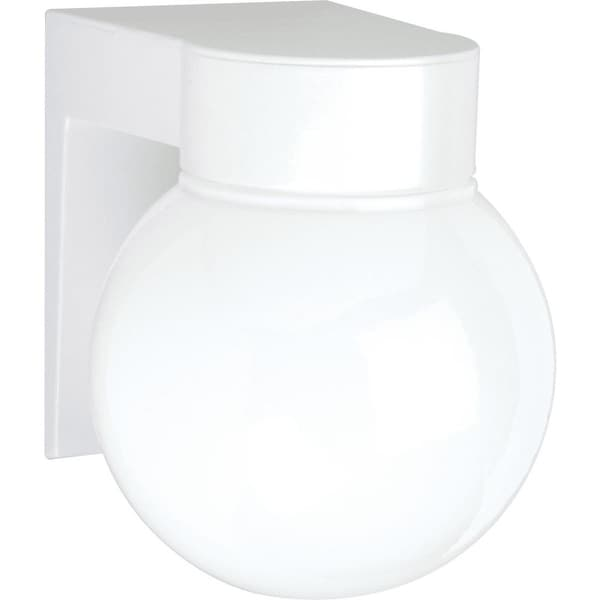 """Nuvo Lighting 77/531 1-Light 6"""" Tall Outdoor Wall Sconce with Frosted Glass Shade - White - n/a"""