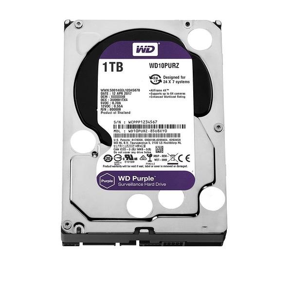 Western Digital Wd10purz 1Tb Surveillance Hard Drive, 5400Rpm, 64Mb Buffer - Purple