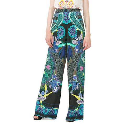 Desigual Women's Briss Wide Leg Patterned Trousers, Multi, Youth