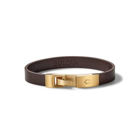 Bulova Mens Classic Wrap Bracelet - J97B004L - Brown