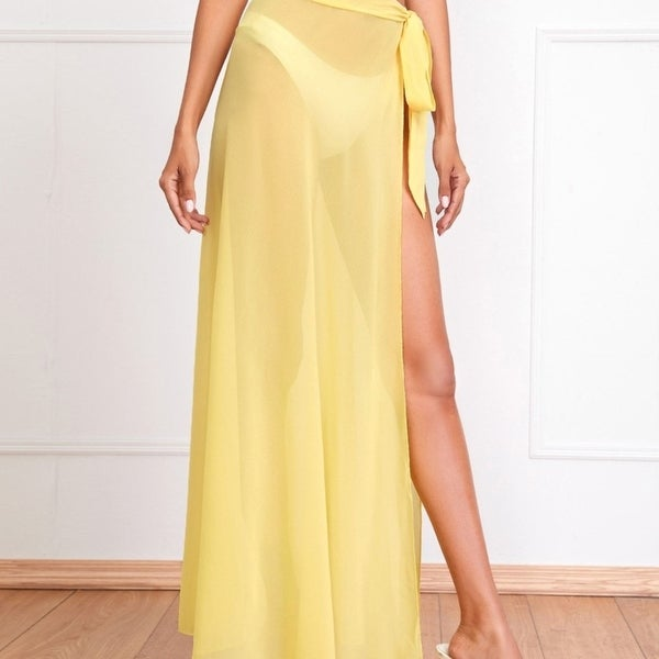 Wrap Tie Side Cover Up Skirt. Opens flyout.
