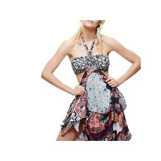 Free People Womens Maxi Dress Printed Asymmetrical