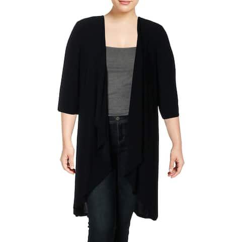 R&M Richards Womens Plus Jacket Matte Jersey Office