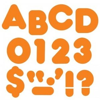Trend Enterprises 4 in. Orange Casual Ready Letters - Pack of 6