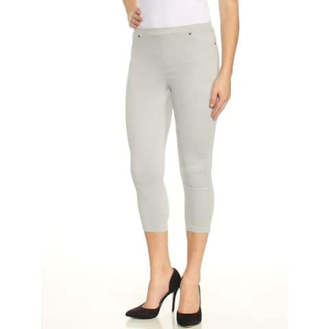 STYLE & CO Womens Gray Capri Pants Petites Size: M