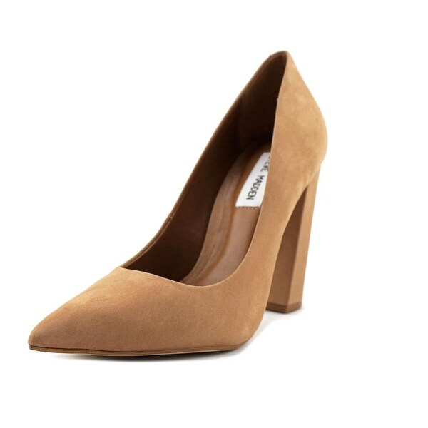 Steve Madden Primpy Women Pointed Toe Leather Tan Heels