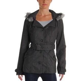 Dollhouse Outerwear Womens Wool Coat Winter Car