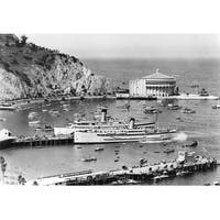 Catalina Island, CA Steamer Casino - Vintage Photo (100% Cotton Towel Absorbent)