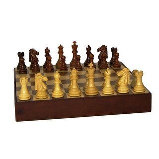 Sheesham Mustang Chess Set With Walnut Chest - Multicolored