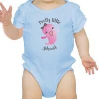 Pretty Little Ghoul Cute Blue Baby Bodysuit For Baby Girl Halloween