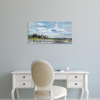 Easy Art Prints Carol Hallock's 'Tree Reflections' Premium Canvas Art