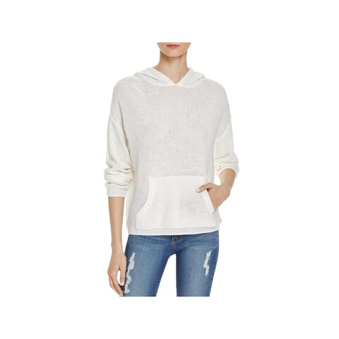 Honey Punch Womens Hoodie Ribbed Trim Front Pocket