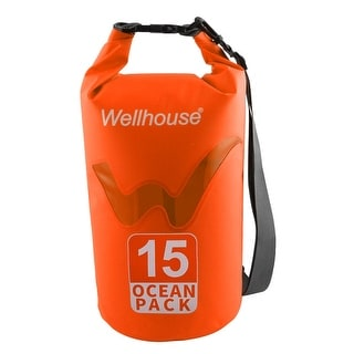 Wellhouse Authorized Underwater Travelling PVC Dry Bag Pouch Backpack Orange 15L