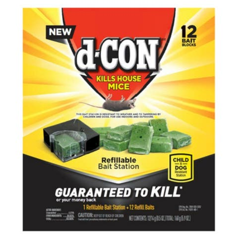 d-CON 1920098666 Refillable Mice Bait Station with 12 Refill Baits