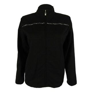 Alfred Dunner Women's Embellished Knit Jacket