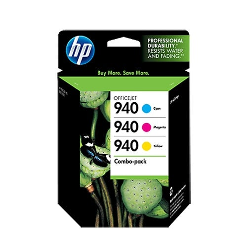 HP 940 3-pack Cyan Magenta Yellow Original Ink Cartridges (Single Pack) HP 940 Combo Pack Ink Cartri