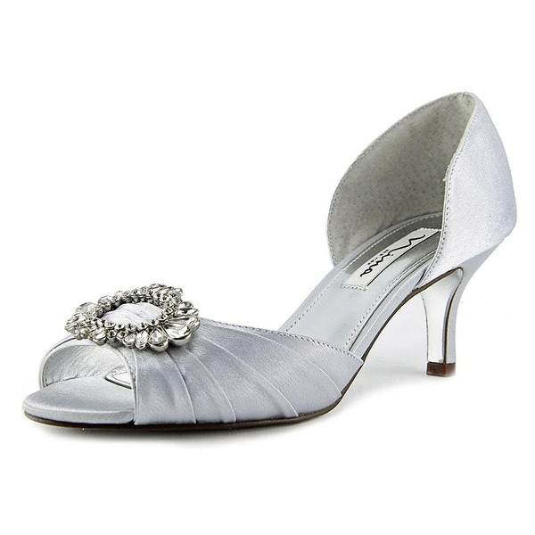 Nina Womens crystah Open Toe Bridal Slide Sandals