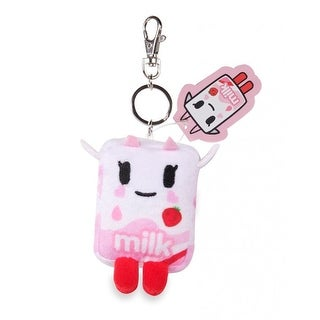 "Tokidoki Strawberry Milk Moofia 4"" Plush Keychain"