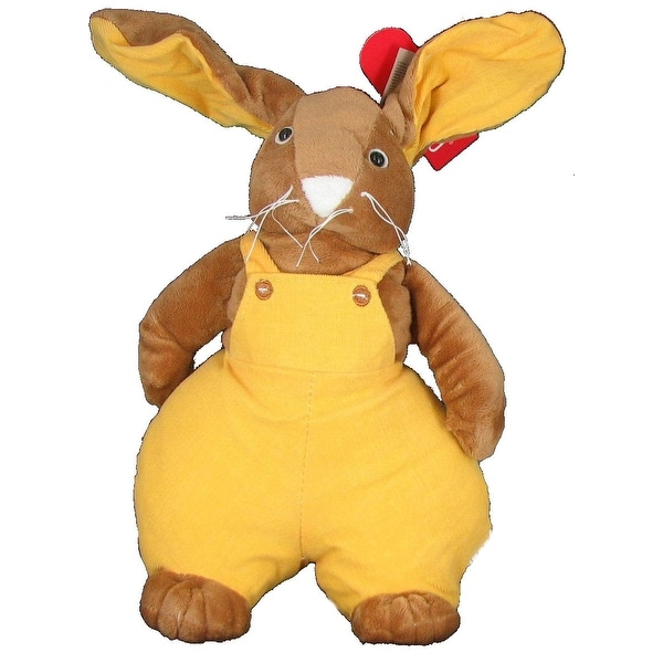 Pudgy Stuffed Bunny Rabbit in Yellow