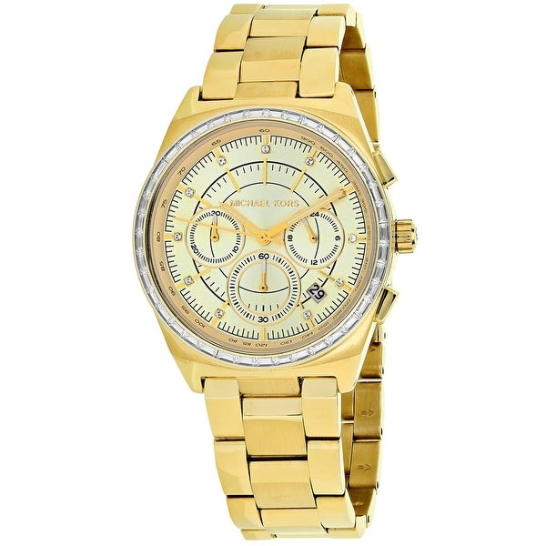 3771789418f6 Shop Michael Kors Women s Vail MK6421 Gold Dial watch - Free Shipping Today  - Overstock - 24225902
