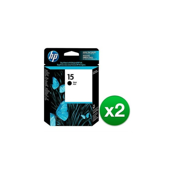 HP 15 Black Original Ink Cartridge (C6615DN) (2-Pack)