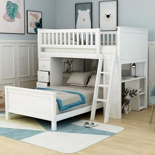 Link to Taylor & Olive Freesia Twin-over-Twin Bed with Storage Similar Items in Kids' & Toddler Beds