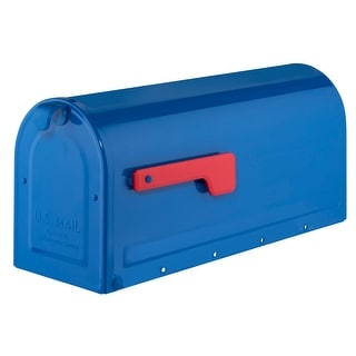 Architectural Mailboxes 7600  MB1 Post Mount Mailbox with Red Flag