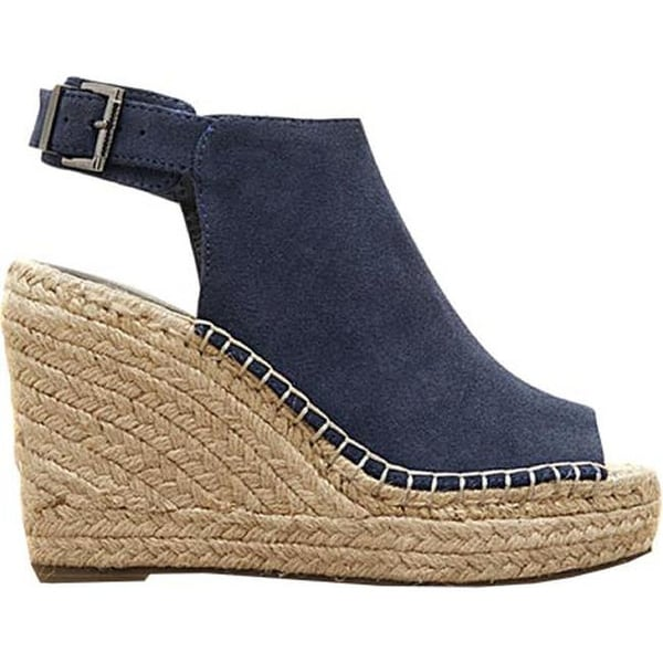 698a20479d8 Shop Kenneth Cole New York Women s Olivia Wedge Navy Suede - On Sale ...